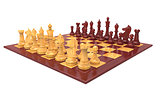 Wood chess game