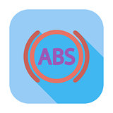 ABS flat single icon.