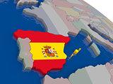 Spain with flag