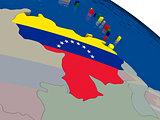 Venezuela with flag