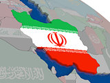 Iran with flag