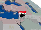 Syria with flag