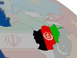 Afghanistan with flag