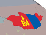 Mongolia with flag