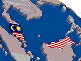 Malaysia with flag