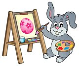 Easter bunny painter theme 1