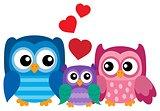 Owl family theme image 1