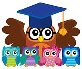 Owl teacher and owlets theme image 4