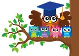 Owl teacher and owlets theme image 5