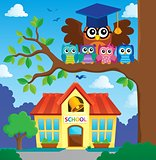 Owl teacher and owlets theme image 6