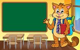 School cat theme image 4