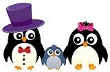 Stylized penguin family image 1