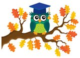 Stylized school owl theme image 8