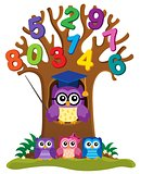 Tree with stylized school owl theme 4
