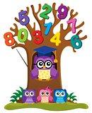 Tree with stylized school owl theme 4