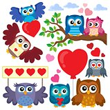 Valentine owls theme collection 1