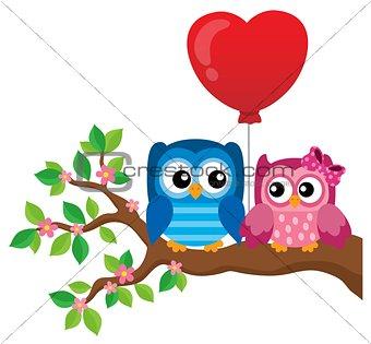 Valentine owls theme image 1