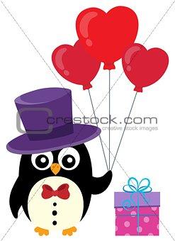 Valentine penguin topic image 1
