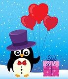 Valentine penguin topic image 2
