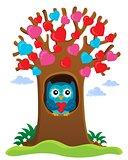Valentine tree theme image 1