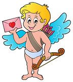 Cupid with envelope theme image 1