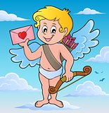 Cupid with envelope theme image 2
