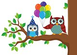 Party owls theme image 5