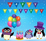 Party penguin theme image 8