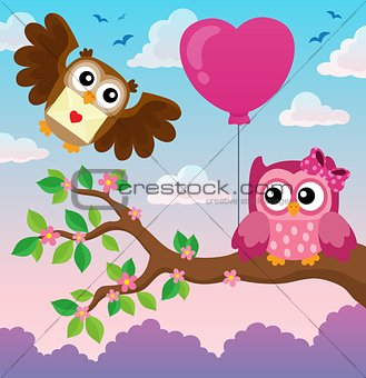 Valentine owls theme image 4