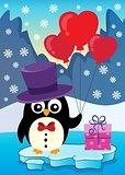 Valentine penguin topic image 3