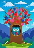 Valentine tree theme image 2