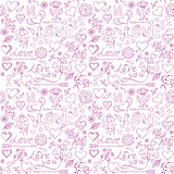 Seamless pattern for Valentine s day.
