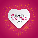 Happy Valentine s day inscription