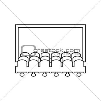 Cinema hall line icon