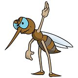 Mosquito With Raised Hand