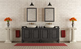 Classic bathroom with double washbasin