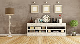 Retro room with sideboard