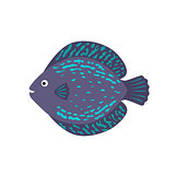 The aquarium fish discus blue violet
