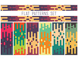 Universal seamless abstract pattern doodle geometric lines in re