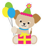 Brown Puppy Birthday