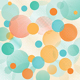 Geometric abstract dots illustration