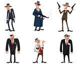 Six gangsters set