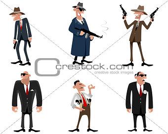 Six gangsters set