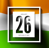 Indian Republic Day vector background