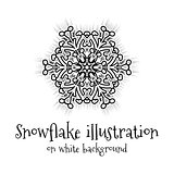 Snowflake icon on white