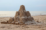 Sand, sea, castle, summer, holiday