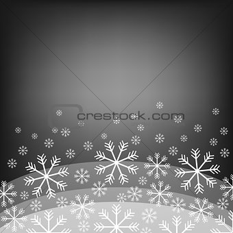 Abstract background with bokeh. Bright snowflake . Christmas design . Vector Illustration. Eps10.