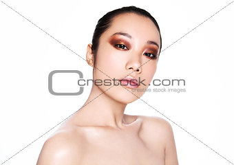 Beauty asian woman health cosmetic makeup portrait