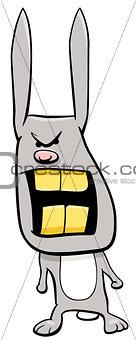angry bunny cartoon character