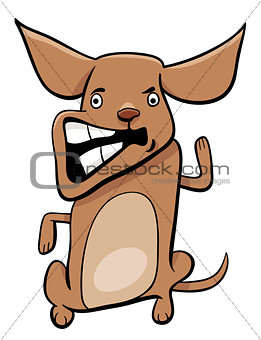 angry puppy cartoon character